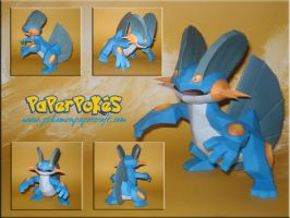 Swampert Papercraft by Carnilmo