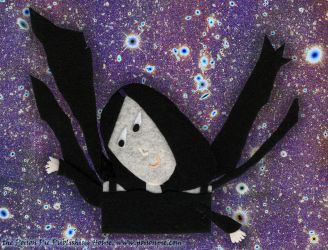 Crow Faerie in Inverted Starfield by PoisonPiePublishing