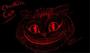 Cheshire Cat Sketch by SamColwell