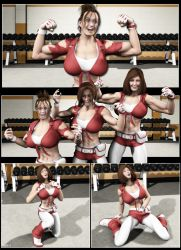 Silent Muscle Giantess Comic 04 by Stone3D