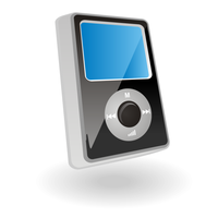 mp3 player vector by ivprogrammer