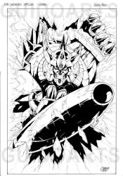 GALVATRON cover INKS by GuidoGuidi