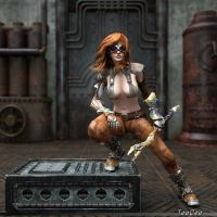Another SteamPunkish Girl by ThierryCravatte