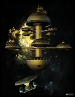 Enterprise approaching station by MotoTsume