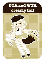 [DTA and WTA] - Emma the Creamy Tail CLOSED by MaiaSadoptsNstuff