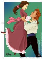 Belle and Prince Adam by GargoyleGoddess21