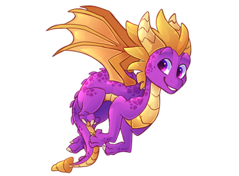 Spyro by HiccupsDoesArt