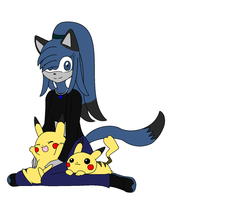 Dez With Pikachus by BluethornWolf