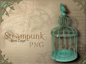 Steampunk bird Cage by FrostAlexis