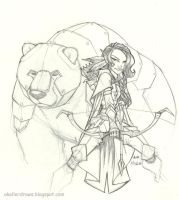 Daily Drawing Vex'ahlia by AndrewScottKeller