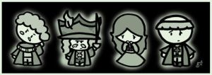 Hogwarts Ghosts by cippow25
