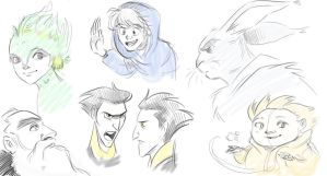 Rise of The Guardians Sketches by MeesterFinchy