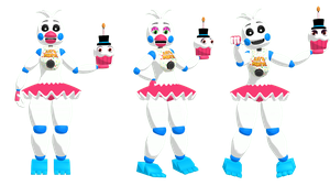 MMD FNAF Funtime Chica DL by SoloBaka