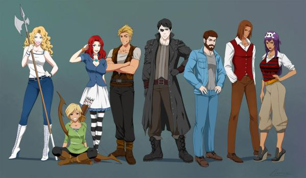 Fullbody Characters - Commission by Precia-T