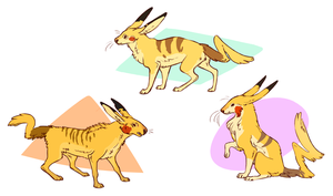 Pikachu Variants by Susiron