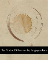 Tea Stains PS Brushes by fudgegraphics