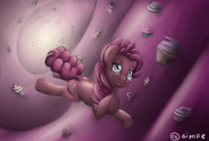 Pinkie Pie in a cupcake dream by simpe94