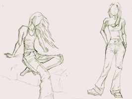 Girls sketchs by alixpoulot