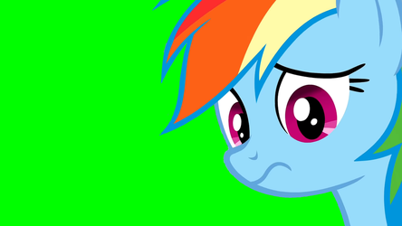 Rainbow Dash in Green Screen by Michaelsety