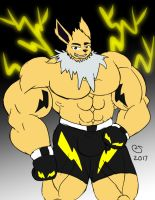 Commission: Boxing Jolteon by CaseyLJones