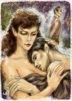 Saavik and young Spock by tafafa