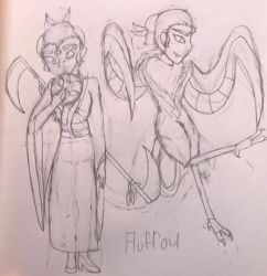 Human/Harpy! Fluffowl by delcattylover469