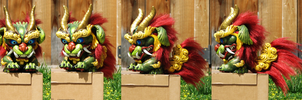 finished munny foo dog by FeralFacade