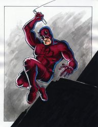 Daredevil Pencil, Sharpie and Brush by moobyj