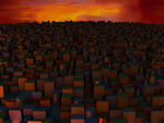 Very Overcrowded City at nightfall by Jakeukalane