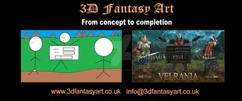 Concept to Completion: Velrania Splash Screen by 3D-Fantasy-Art