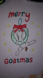 Merry Goatmas (Traditional) by LightningChaser42