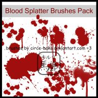 Blood Splatter Brushes Pack by LauNachtyr