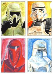 Four Seasons Sketch Cards by TolZsolt