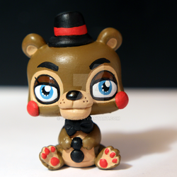 Toy Freddy from FNAF2 inspired LPS custom by pia-chu