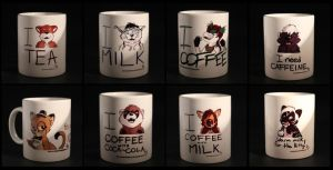 Mugs with different tastes by pandapaco