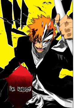 Hollow Ichigo Manga Color by l3xxybaby