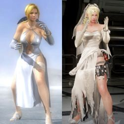Helena Douglas and Nina Williams - Blonde in White by AVGNJr1985