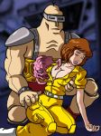 April O'Neil Knocked Unconscious by Krang by cuttlesquid
