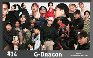 #34 G-Dragon RENDER PACK  by Bai by Siguo