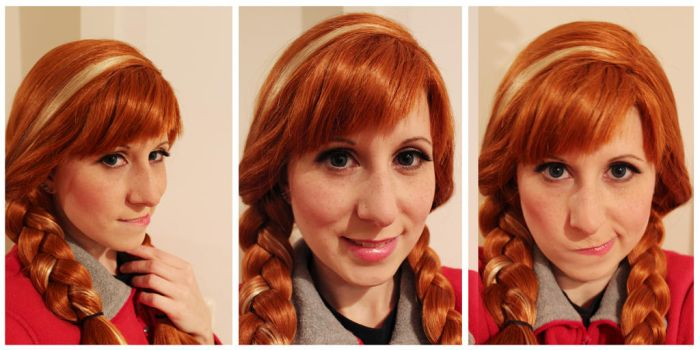 Make-up and wig test ~Anna / Frozen~ by Kairi-Heartless