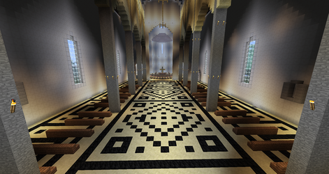 Minecraft - Florence Cathedral Interior by MinecraftArchitect90