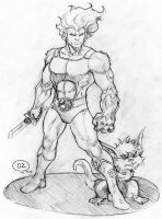 Lion-o and Snarf (Thundercats)sketch by OZartwork