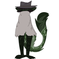 MYSTERIOUS GUNWOMAN | CATSPROUT MYO {APPROVED} by Cosmic-Avian
