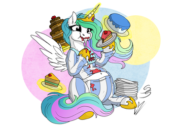 Comic Sins - Cakelestia by LupiArts
