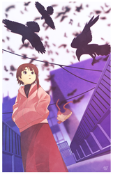 serial experiments lain (FANART) by phation