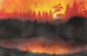 Forests in Fire and Gold by theyearbeforetime