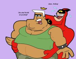 Crimson Chin and Obese Jorgen by Cookie-Lovey