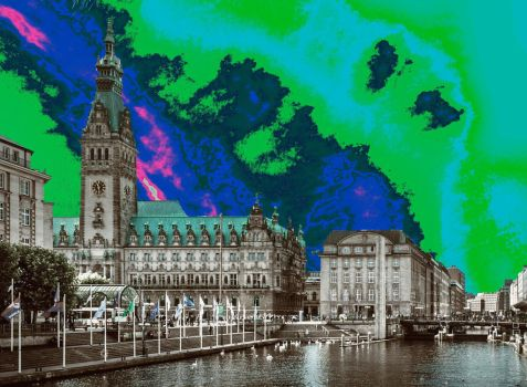 City with gamma sky background  (1) by jasonlee3071