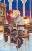 HP_First kiss by mary-dreams