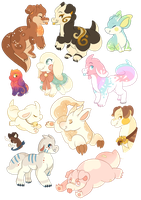Nearly every fumi I've designed so far by Chiki-nan